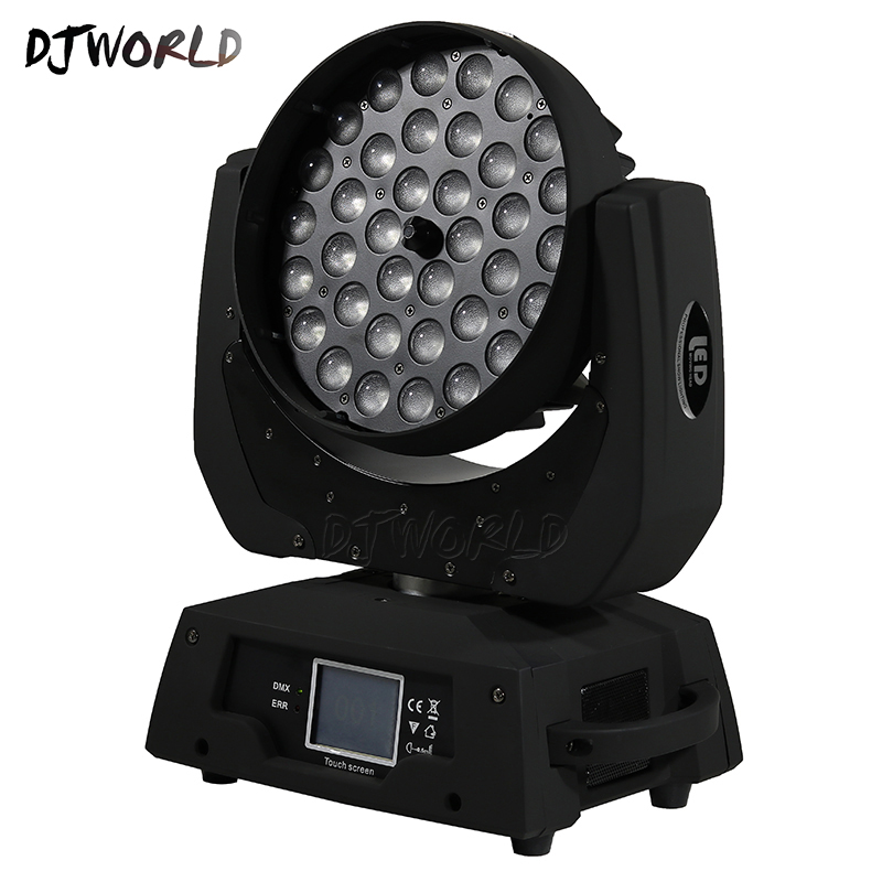 DJWorld LED 36x12W Zoom Wash LED Moving Head Light RGBW 4in1 DMX Stage Light Effect Disco Stage Lighting Professionals Wedding