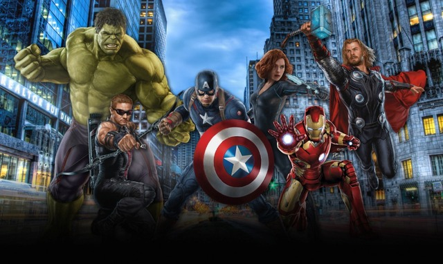 7x5ft Superhero Super Hero Avengers Captain America Hulk