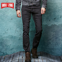 Real Jeans Men Designer Cotton Homme Balmai Mens Trouser Famous Brand Clothing Solid Mid Winter Autumn Full Length Black Jean