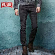 Real Jeans Men Designer Cotton Homme Balmai Mens Trouser Famous Brand Clothing Solid Mid Winter Autumn Full Length Black Jean(China)