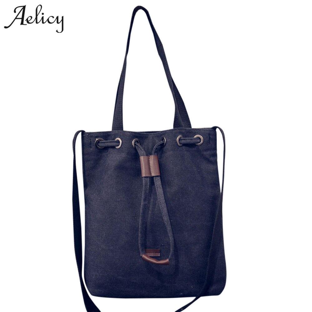 Aelicy Portable Shopping Handbags Holiday Designer Handbags High Quality Reusable Large Women Shopping Shoulder Bags Bolsa