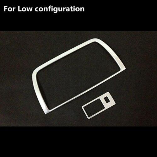 Автомобиль-Стайлинг DVD украшения отделка интерьера Рамки Стикеры Авто Часть пригодный для Mazda CX-5 CX5 2012 2013 ABS chrome 2 шт - Название цвета: low