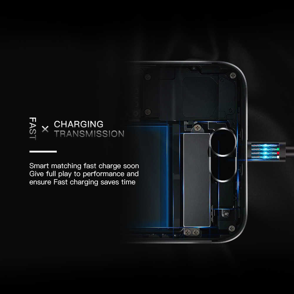 KEYSION 2.1A كابل رقمي لسامسونج ل Xiaomi لهواوي شاحن يو اس بي مزين الهاتف كابل المصغّر usb سريع شحن مزامنة بيانات