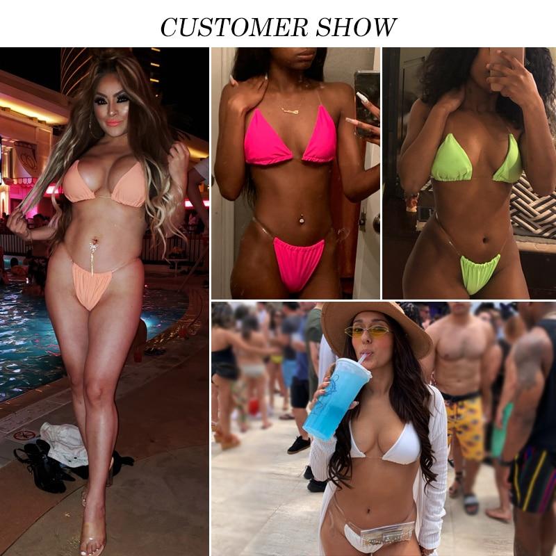 Bikinx Transparent bikini 2019 micro Sexy thong Brazilian swimsuit female Push up swimwear women bathing suit biquini bathers