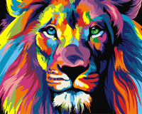 Digital Diy Oil Painting Lion Wall Decor Picture On Canvas Oil Paint Coloring By Number Drawing