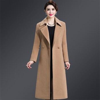 00a40a3b Talla grande 4XL Casual mujer abrigo de lana 2019 Otoño Invierno ...