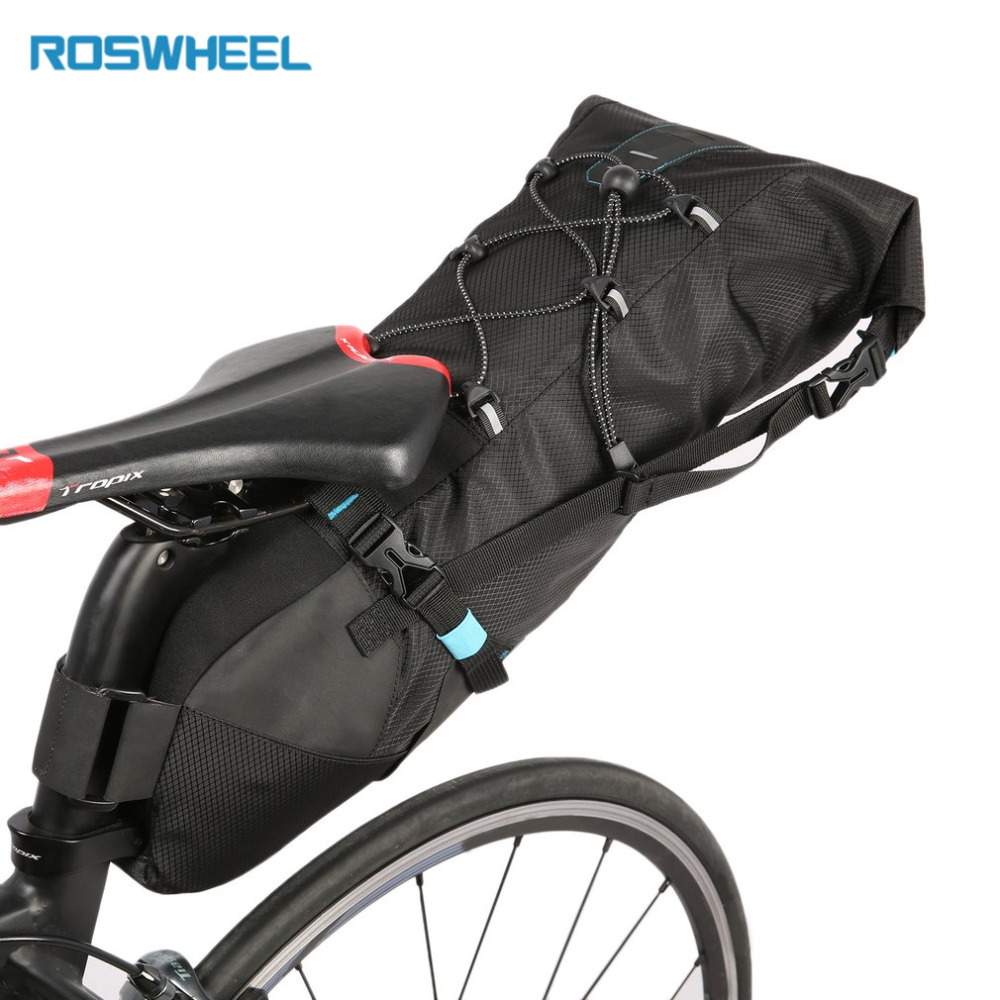 Здесь продается  ROSWHEEL ATTACK Series Large Capacity Black Cycling Bicycle Saddle Tail Rear Seat Waterproof Storage Bag Black top quality  Спорт и развлечения