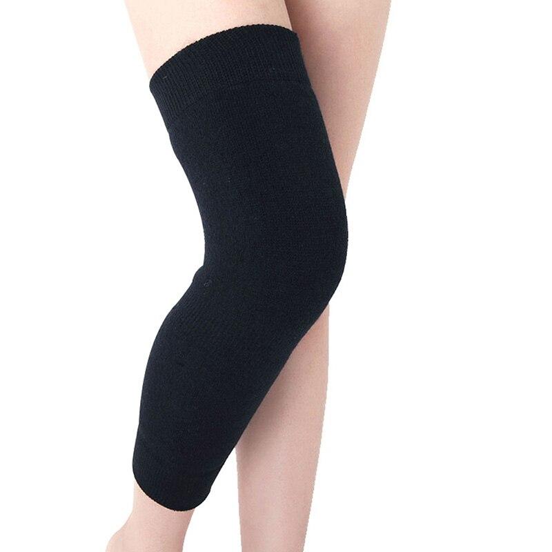 1 Paar Knie Protector Pad Kaschmir Warme Kneepad Wolle Baumwolle Latex Gewinde Knie Unterstützung Frauen Verlängern Verhindern Arthritis Knie Pad