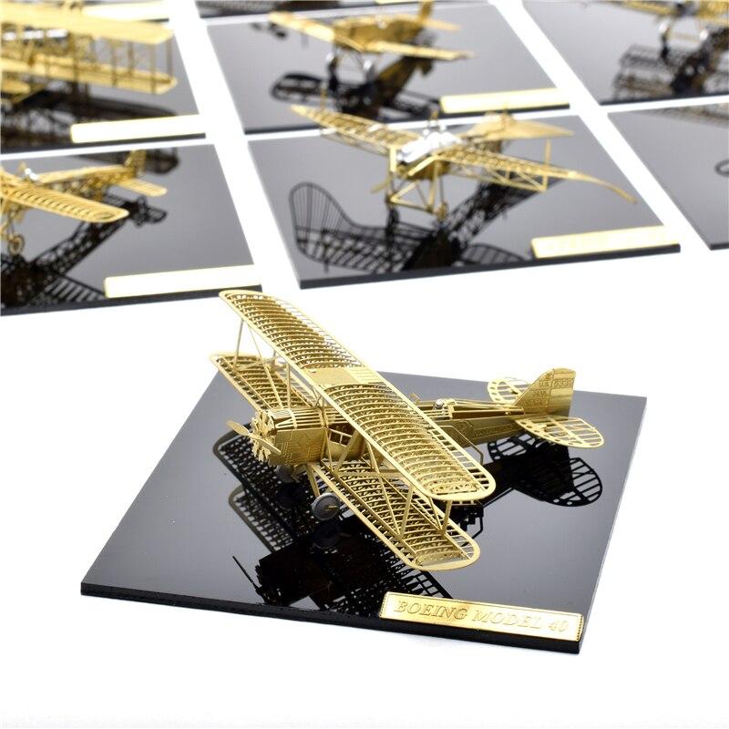 1/160 Boeing 40 Model bingkai pesawat DIY Tidak perlu menggunakan gam - Teka-teki - Foto 6
