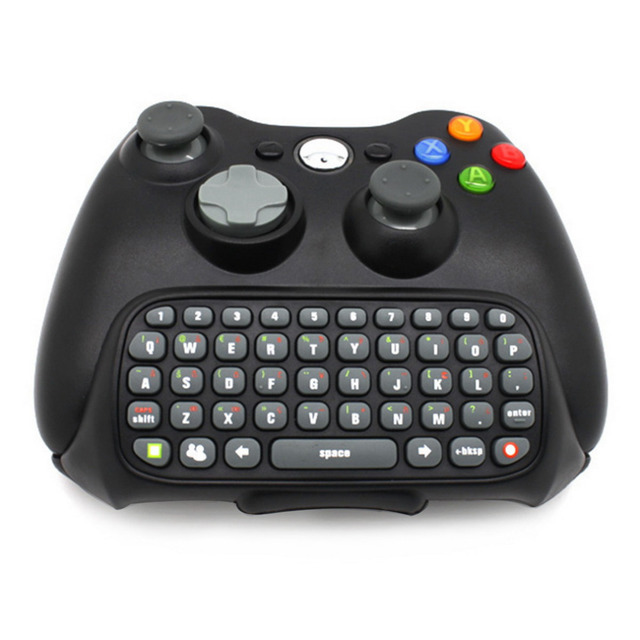 Mini Keyboard Wireless Controller Text Messenger Keyboard 47 keys Chatpad Keypad for Xbox 360 Game Controller Black