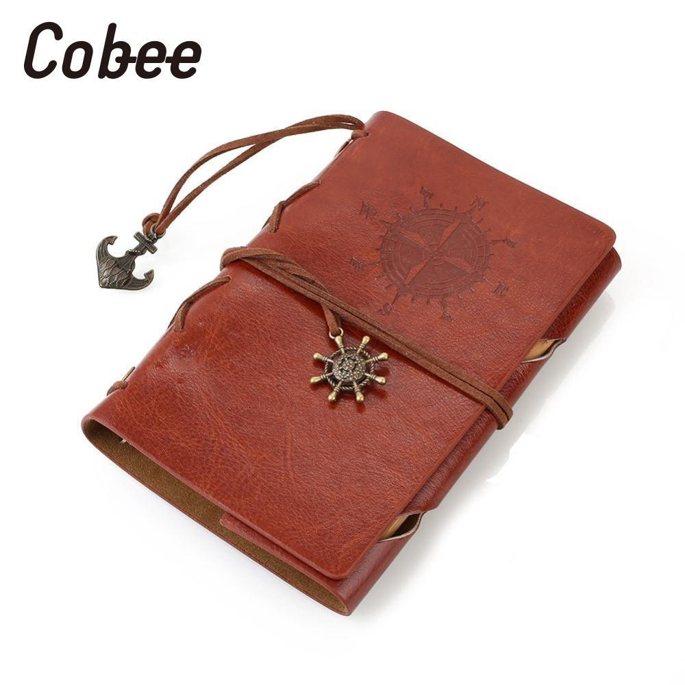 cobbee Retro Vintage Journal Notebook Notepad traveler notebook Ring Binder Sketchbook Organizer Diary Memos Writing Supply