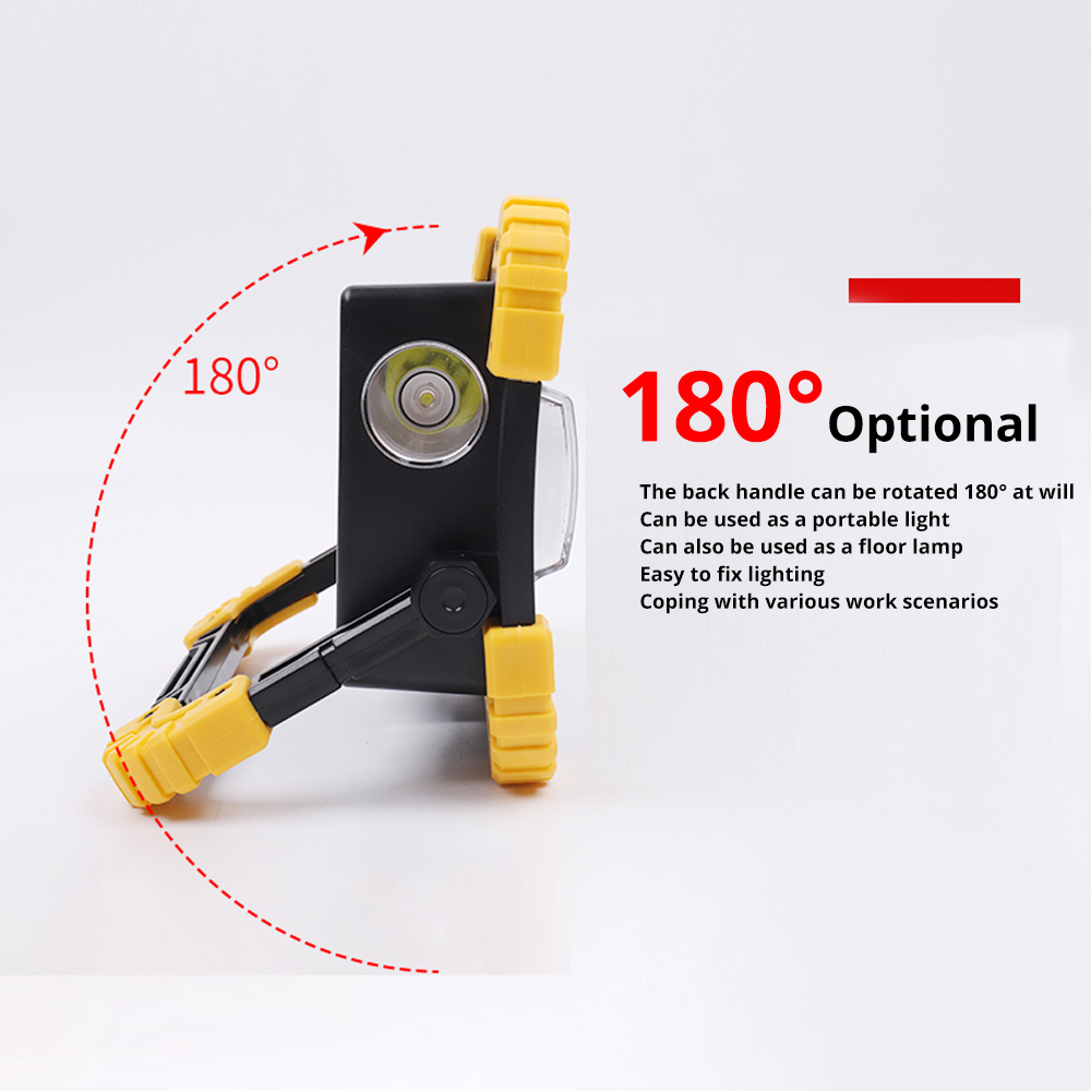 100W Led Portable Spotlight 3000lm Super Bright Led Work Light Rechargeable for Outdoor Camping Lampe Led Flashlight by 18650 5