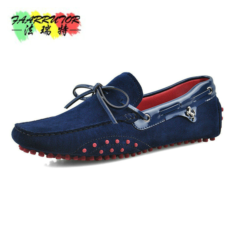 Brand Summer Casual Men Suede Leather Slip-on Loafer Driving Shoe Fahion Boat Shoe Handmade Men Velvet Moccasin Dress Shoes 2 colors us size 6 10 slip on leather casual men driving loafer moccasin summer sandals shoes