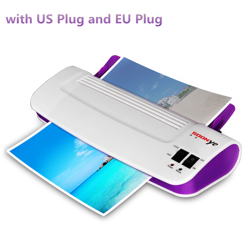 ФОТО Professional Thermal Office Hot and Cold Laminator Machine for A4 Document Photo Blister Packaging Plastic Film Roll Laminator