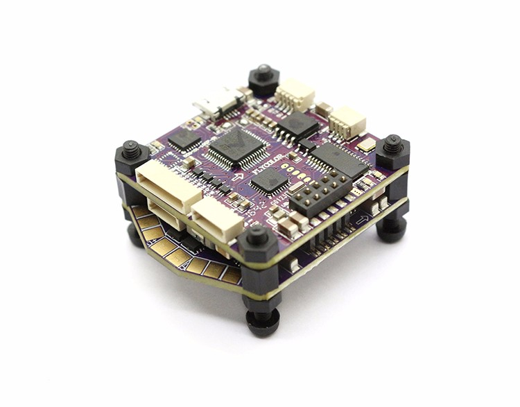 F19702 Flycolor Raptor 390 Tower 4 in 1 ESC 2-4S F3 Flight Controller Integraetd OSD Power Distribution Board for RC Quadcopter flycolor raptor s tower 30a 4 in 1 esc electronic speed controller 2 4 s support dshot600 f3 flight controller osd