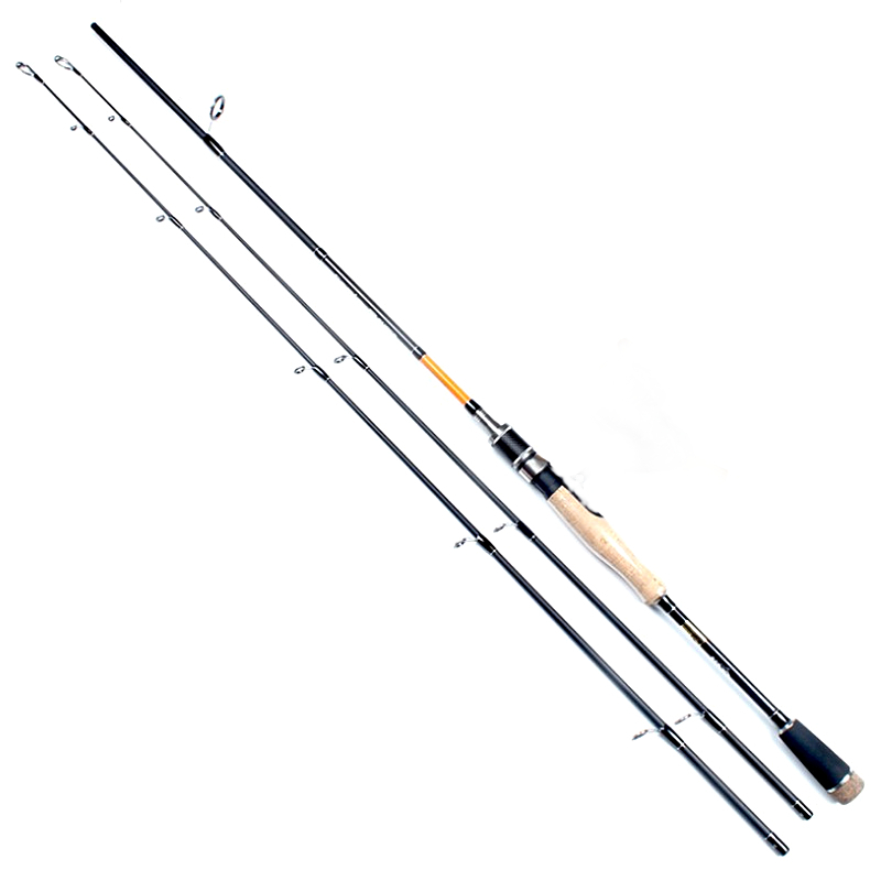 1.8/2.1/2.4m double tips carbon lure fishing rod spinning casting fish rod M/MH power 2 sections lure weight 8-30g