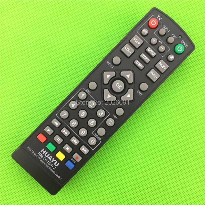 UNIVERSAL tv remote control controller dvb-t2 remote huayu rm-d1155+2 sat Satellite television receiver mini dvb t digital tv usb 2 0 dongle w remote controller