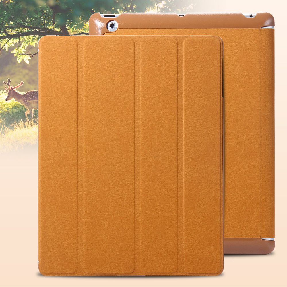 Fashion Protective Shell For iPad 2 3 4 iPad4 iPad3 iPad2 Case 4 Folded Deer Pattern Design Magnetic Leather Cover CL16