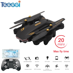 VISUO XS809S Foldable Selfie Drone with Wide Angle 2MP HD Camera WiFi FPV XS809HW Upgraded RC Quadcopter Helicopter Mini Dron