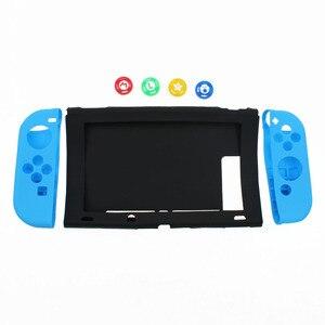 Image 3 - TingDong dla konsoli Nintendo przełącznik przypadku NS miękkie silikonowe pokrywa ochronna skóry dla Nintendo przełącznik konsoli i Joy con