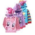 Anime Meu Pequeno Poni Meninas Do Bebê Crianças Outerwear Jaquetas de Pônei das Crianças Sports Casacos Casacos de Inverno das Crianças Para Meninas