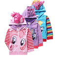 Anime My Little Poni Baby Girls Kids Outerwear Pony Children's Jackets Sports Outerwear Children's Winter Jackets For Girls