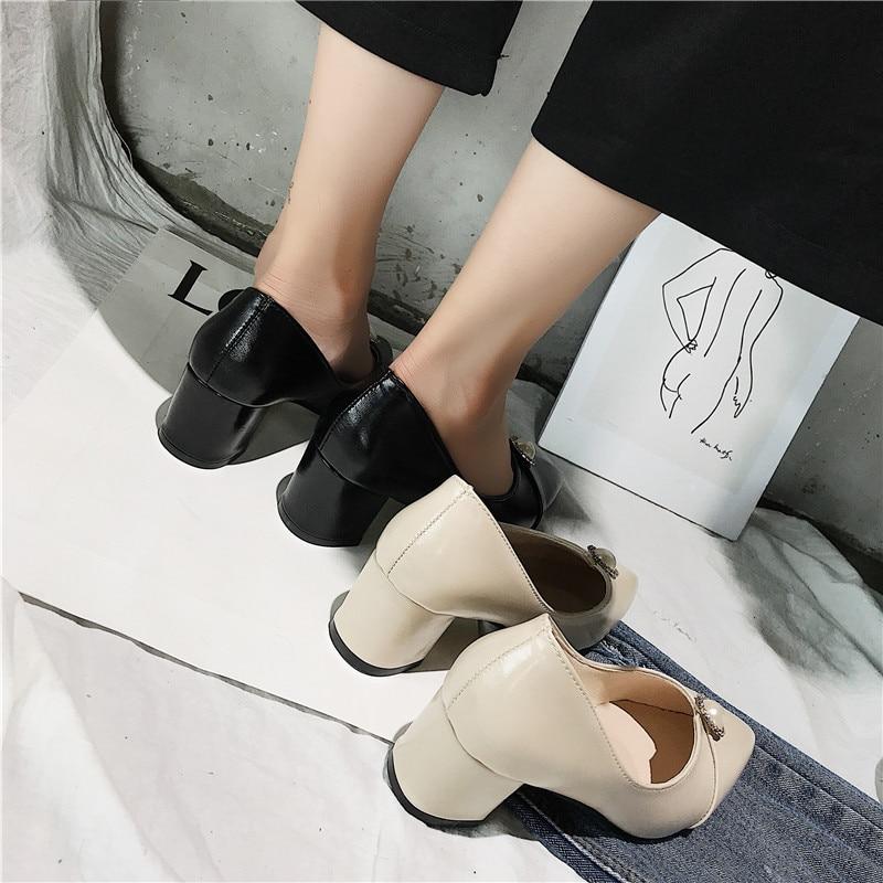 Donna Superficiale Scarpe Femminile Sexy Donne Nuovo bianco Professionali Stile Tacchi Di Da Nero Estate Basso Lavoro Bocca Alti Alto Sottolineato A Nero Delle Il 2018 tacco Bw7IqFvI