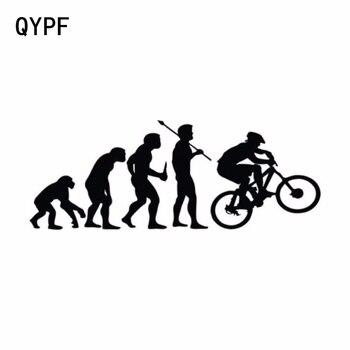 QYPF 15.2CM * 5.7CM osobowość wspinaczka rower ewolucja Vinyl samochodów naklejki S2-0033