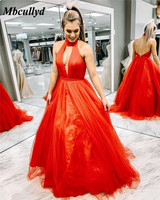 Mbcullyd Sexy Backless Prom Dresses 2019 Cute A Line Formal Evening Ladies Dress Party Gowns Cheap Under 100 Vestido de Festa