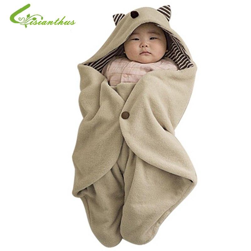 Cute Comfortable Children Baby <font><b>Sleeping</b></font> Bag Infant Blankets Quilt Toddler <font><b>Sleeping</b></font> Sack Baby Swaddling Wrap Hat TL001 Autumn