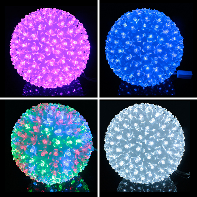 New 200LED Petals Round Ball Shaped Lights for Christmas Wedding Party Decoration Romantic LED Light Festival Decoration Hot