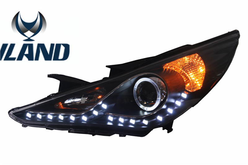 Free shipping for VLAND car LED head lamp for Hyundai for Sonata8 LED headlight H7 Xenon Projector lens free shipping for vland factory for car head lamp for audi for a3 led headlight 2008 2009 2010 2011 2012 year h7 xenon lens