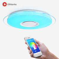 Modern LED Ceiling Light Remote Control Dimmable APP Control Living Room Bedroom Bluetooth Speaker Ceiling Lamp