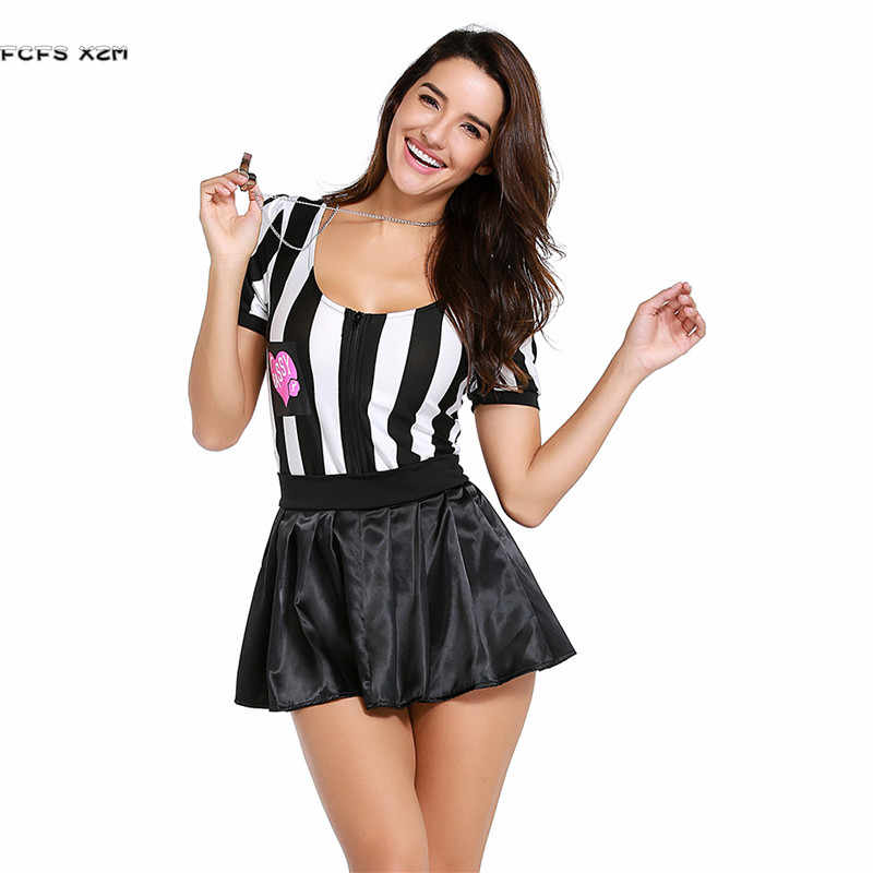 a3402e44192 Woman Sport competition Cheerleaders Referee uniform Cosplay Female ...