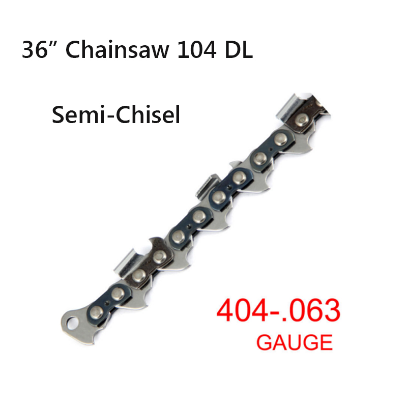 .404 Pitch 0.063 Gauge 36 Semi-Chisel 104 Drive links Shape Blade wood cutting Saw Chain  Free shipping 1PC high speed mini bench cut off saw steel blade for cutting metal wood plastic with adjust miter gauge