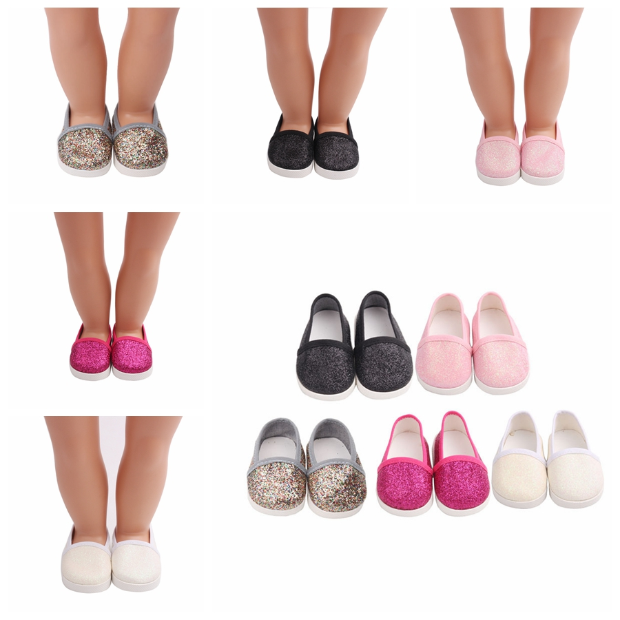 Doll Accessories Flash Shoes For 18 Inch American 45cm Toys Baby 7cm Fashion Suit 1/3 BJD Girls Gift