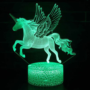 Flying unicorn theme 3D Lamp L