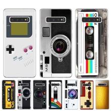Vintage Cámara cinta grabadora Gameboy caso Coque Samsung Galaxy S6 S7 borde S8 S9 S10 Plus 5G Lite S10E M10 M20 suave de la cubierta del TPU del