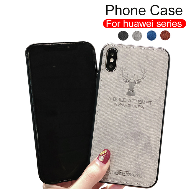 Funda del teléfono para Huawei Honor 8x9 Nota 10 9i amigo 20 lite p20 pro nova 3 3i p smart funda trasera suave de tela de borde de silicona