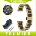 Liberação rápida de cerâmica & pulseira de aço inoxidável 20mm 22mm para diesel butterfly fecho das mulheres dos homens watch band strap pulseira de pulso