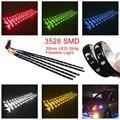 2 PCS LED streifen SMD3528 Wasserdichte Flexible 30 CM Rot Grün Blau Weiß Warm weiß Super helle auto Styling decor aufkleber lampe