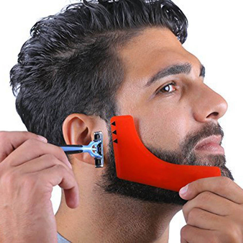 Professional ABS Beard comb Comb Perfect Lines Symmetry Shaping Styling Template Stencil ABS Beard Shapper Comb
