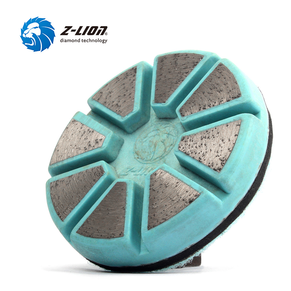 Z-Lion 1piece Diamond Metal Bond Grinding Pad For Concrete Floor Stone Plastic Based Aggressive Abrasive Grinding Disc