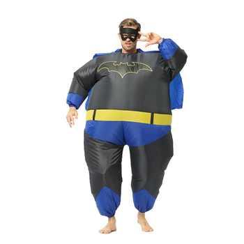 JYZCOS Purim Inflatable Fat Superman Batman Captain America Halloween Costume for Adult Kids Party Cosplay Superhero Fancy Dress