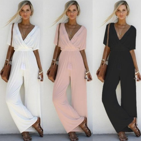 Plus Size Jumpsuits For Women 2018 Ladies Jumpsuit Overalls Rompers Womens Jumpsuit Long Pants Macacao Feminino Enteritos Mujer