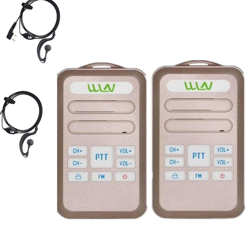 2PCS 100% Original  WLN KD-C80 Uhf 400-470MHz 16Channel Mini Two Way Radio Keyboard Walkie Talkie C80