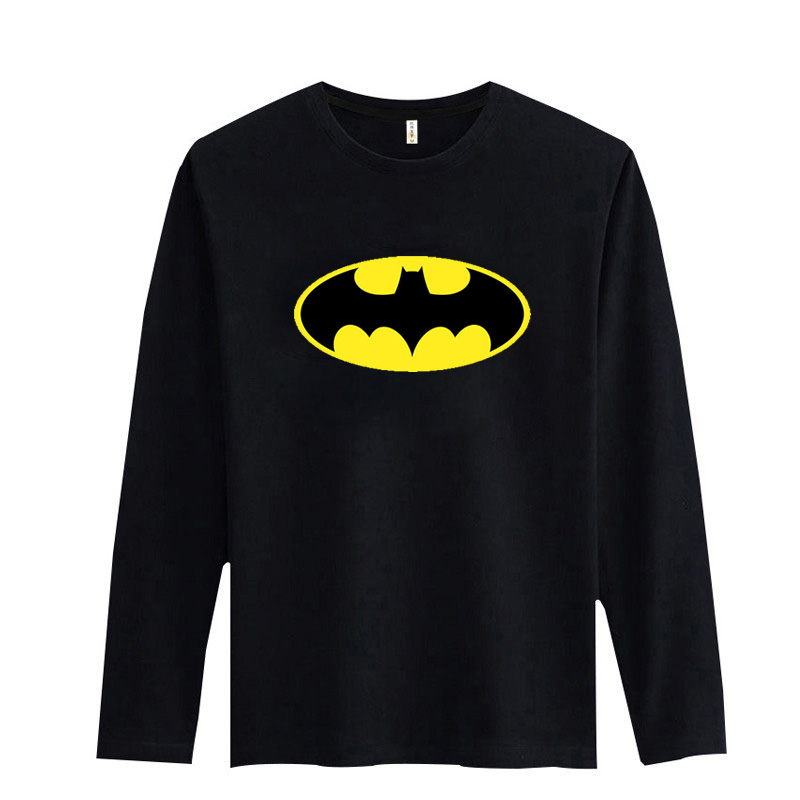 Batman Symbol Black/White Tshirt Long Sleeve Soft Cotton Tees With Fashion Men T Shirt Luxury Brand 3xl