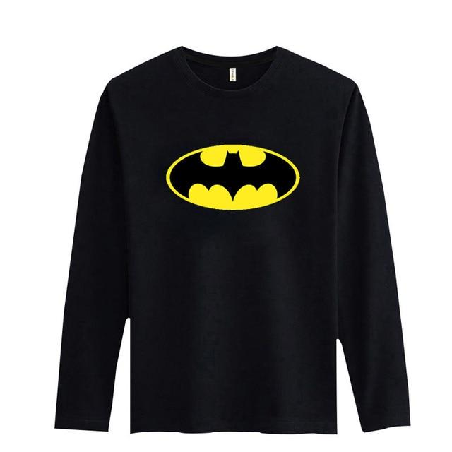 51b5fa11fbe Batman Symbol Black White Tshirt Long Sleeve Soft Cotton Tees With Fashion Men  T Shirt Luxury Brand 3xl