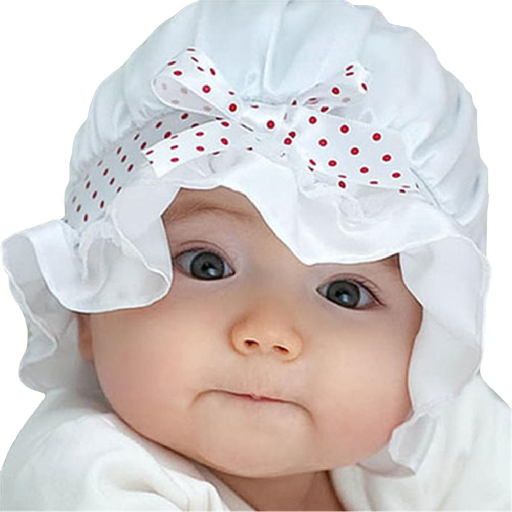 d5b75a0a Newborn Baby Sun Hat Cap Polka Dots Beanie Hat Girl Boy Cute White Pink  Summer Cool Cap For Infant 3 To 24 Months