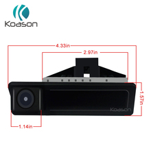 Koason Car Rear View Camera Reverse Hand pull Open Trunk for E60 E90 E70 E71 2005-2010